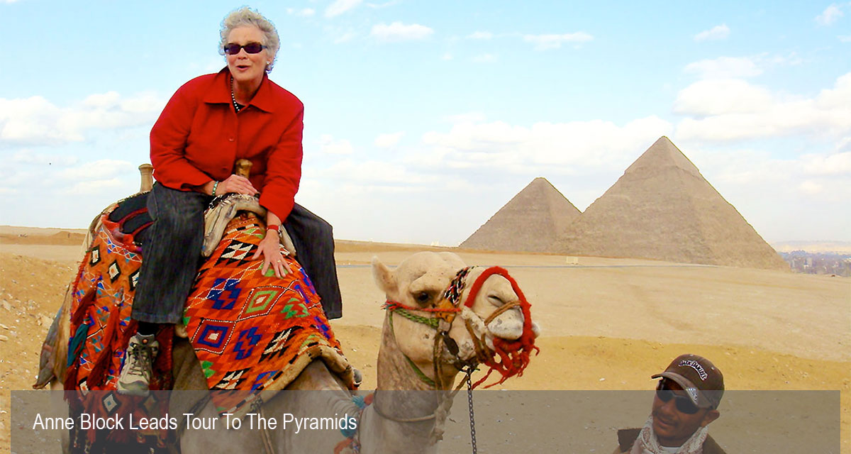 Anne Block Tour to Egyptian Pyramids