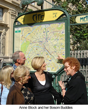 Anne Block and her Bosom Buddies Tour of Paris France