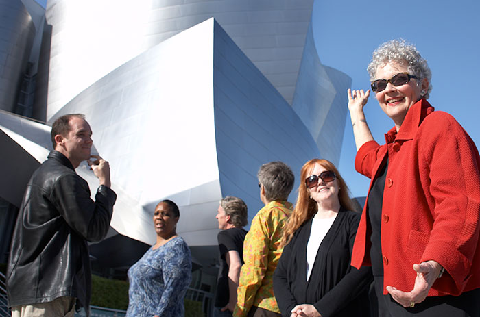 Anne Block and guests at Walt Disney Concert Hall